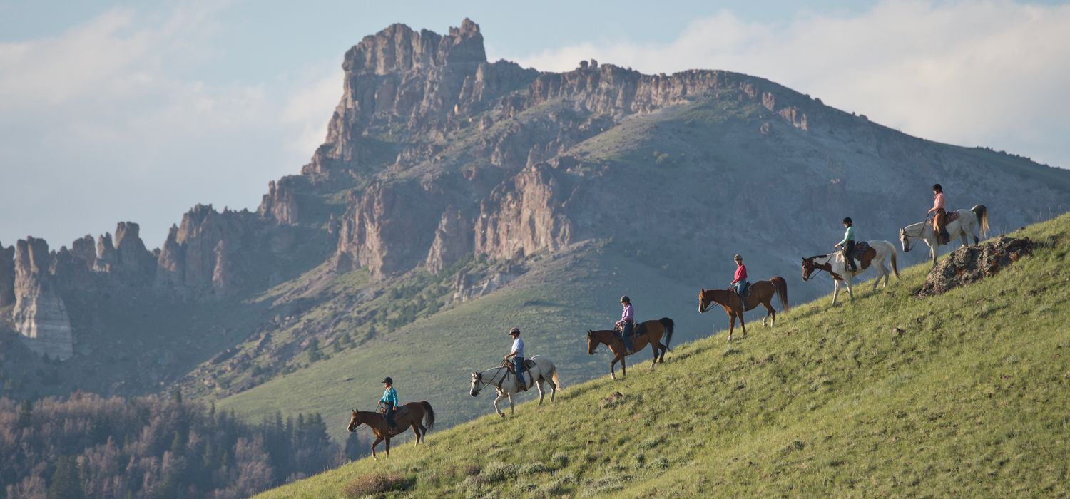 Photo from the Bitterroot Ranch (Wyoming) ride.