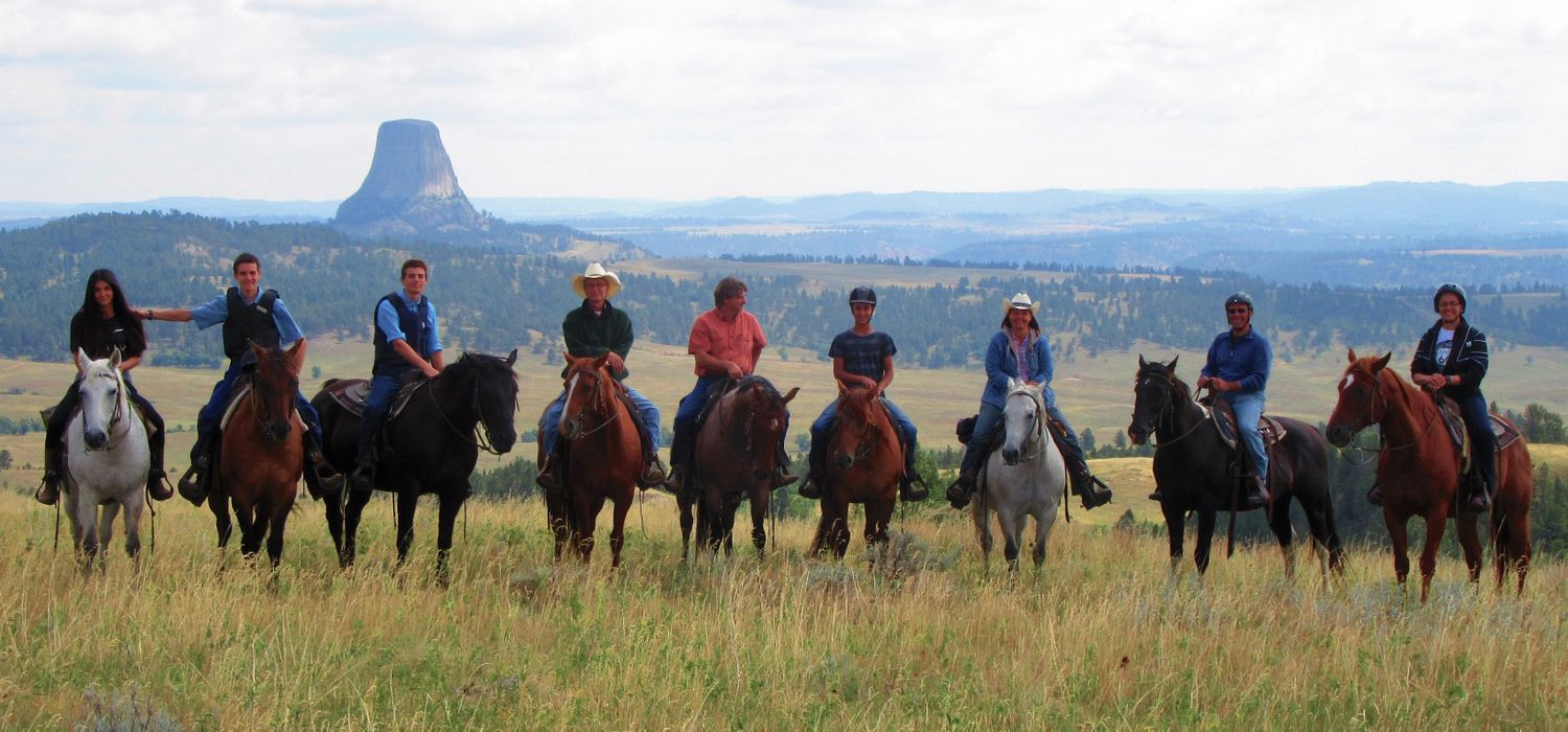 Photo from the Black Hills Ranch (Wyoming) ride.
