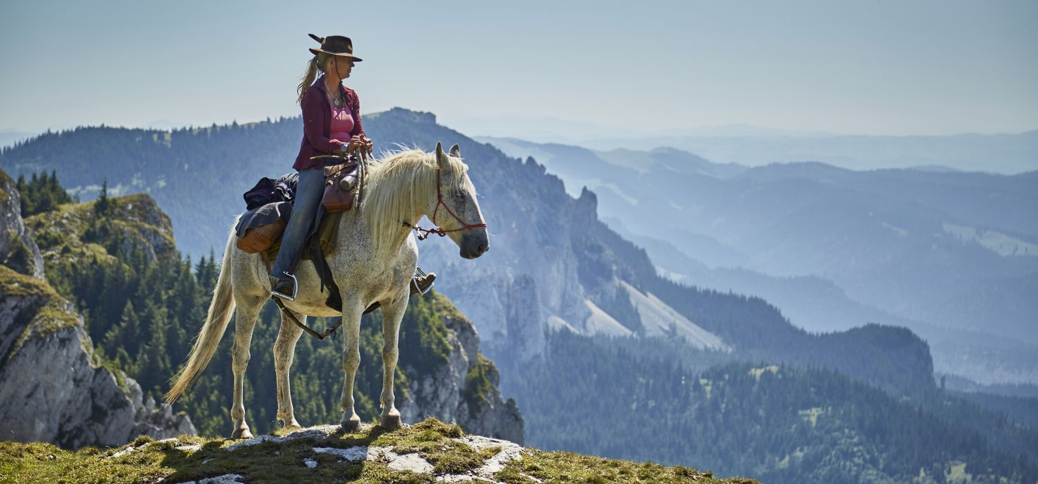 A view of the Carpathian Mountain Trails ride in Romania