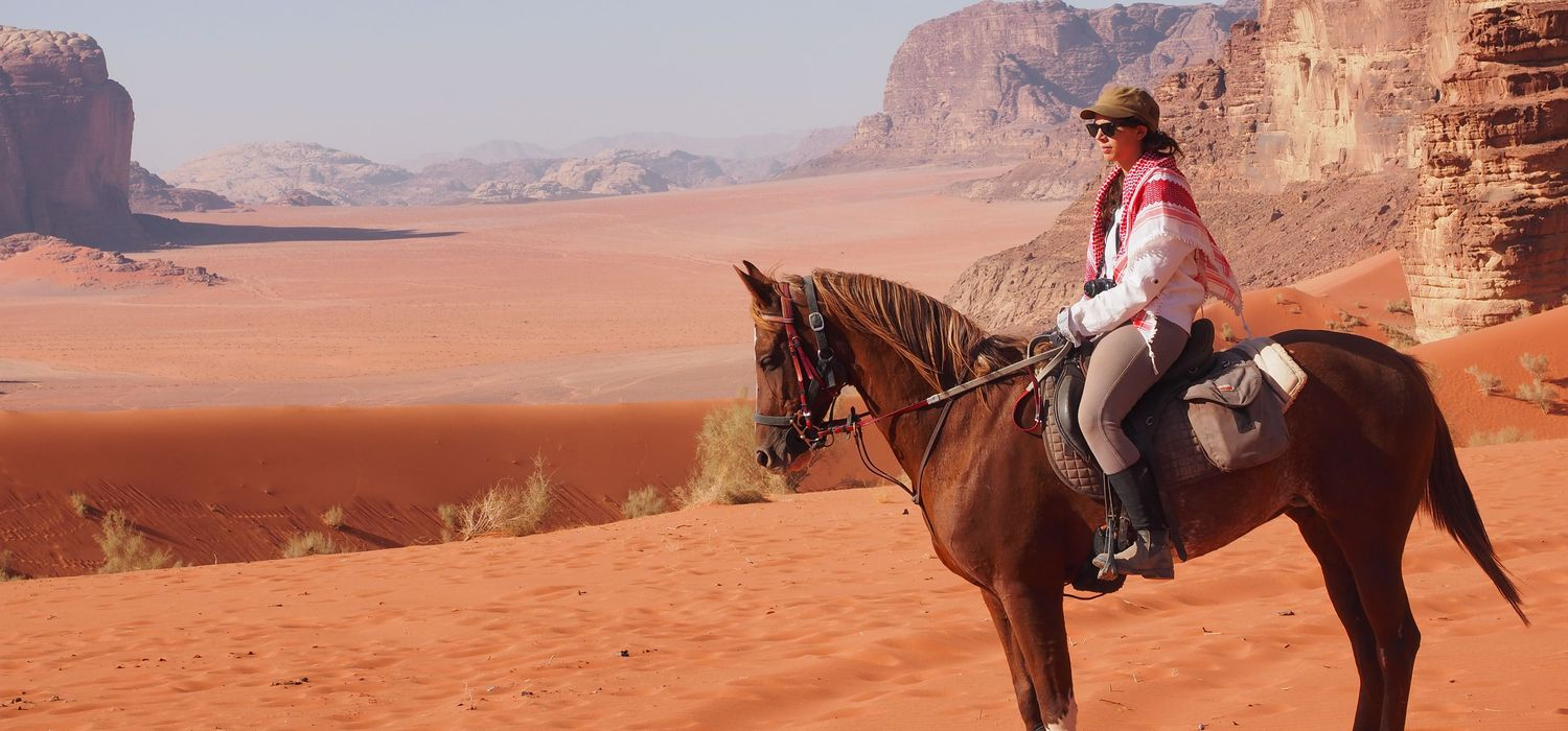 Photo from the Petra Trails ride.