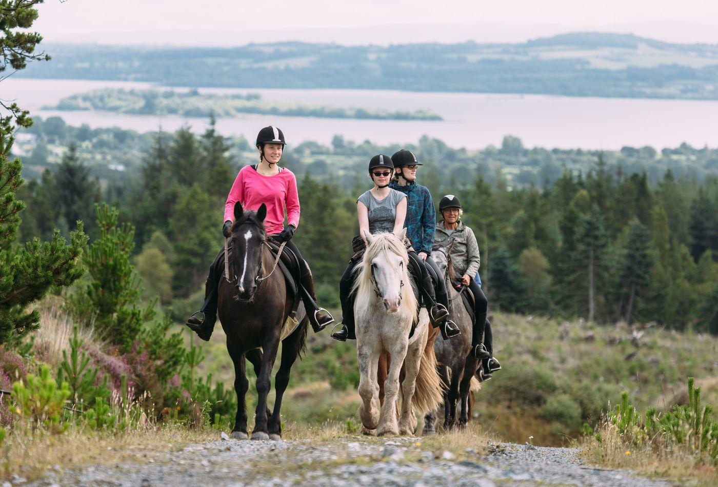 Irish Castle and Monastic Ruin Ride itinerary.