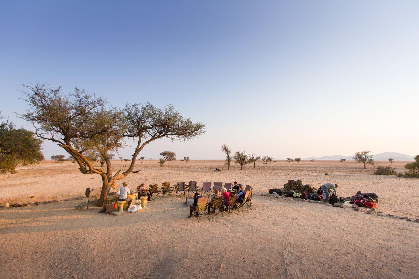 Namib Desert Trail itinerary.