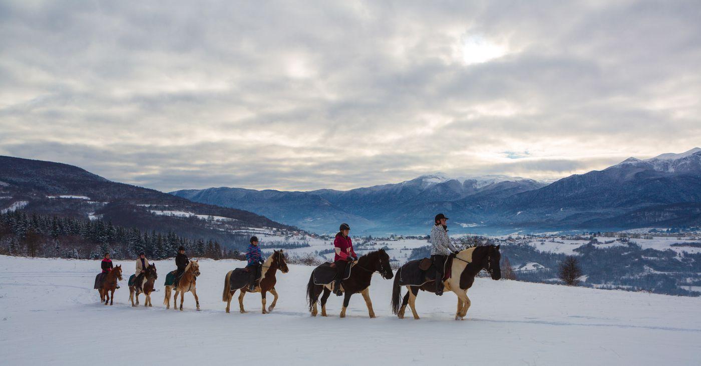 Ride & Ski (Winter) Programme itinerary.