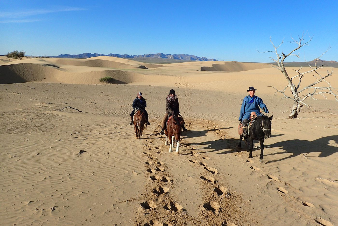 Dunes and Steppes Ride itinerary.